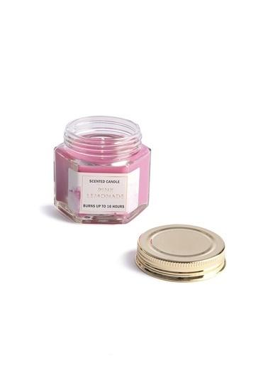 LWP Shop Pink Lemonade Ahududu ve Elma Kokulu Mini Mum Pembe